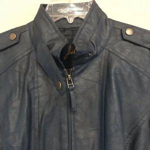 Jack Faux Leather Motorcycle Jacket, Medium